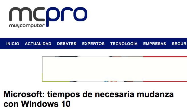 mcpro articulo microsoft