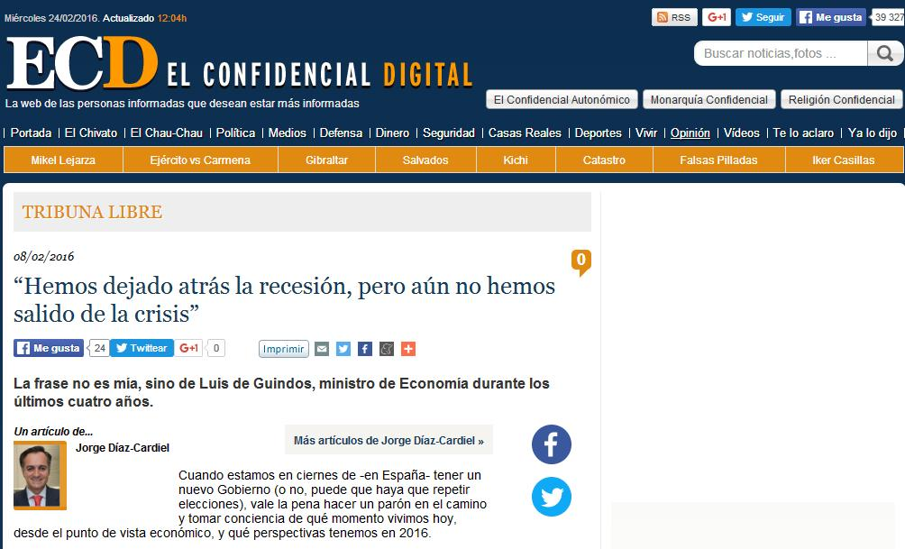 Article by Jorge Díaz-Cardiel in El Confidencial Digital