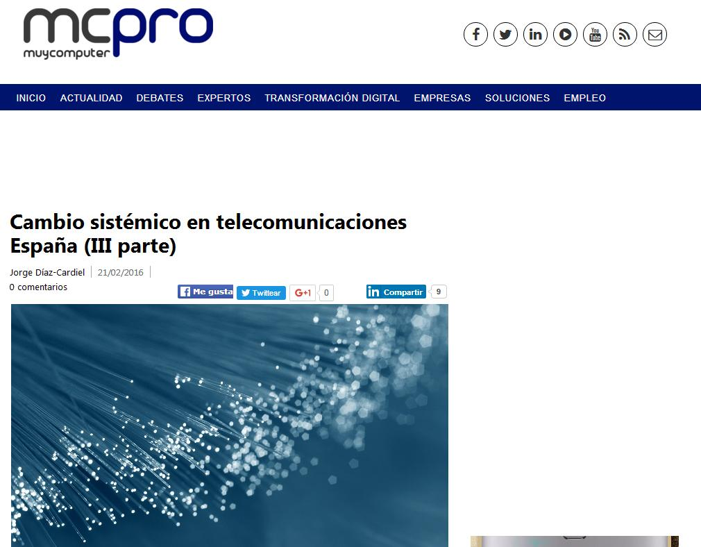 Article by Jorge Díaz-Cardiel published in Muy Computer Pro