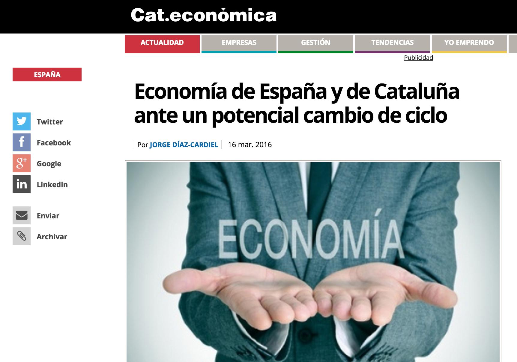 Artículo de Jorge Díaz-Cardiel en Cataluña Económica