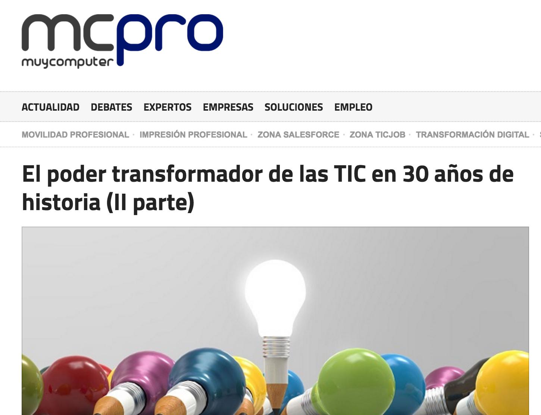 Artículo de Jorge Díaz-Cardiel en 'MCPRO'