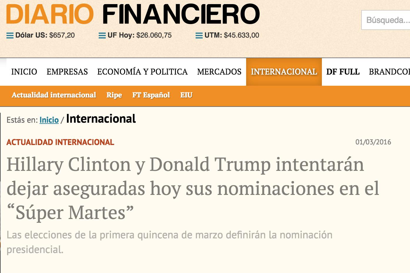 Artículo de Jorge Díaz-Cardiel en Diario Financiero de Chile