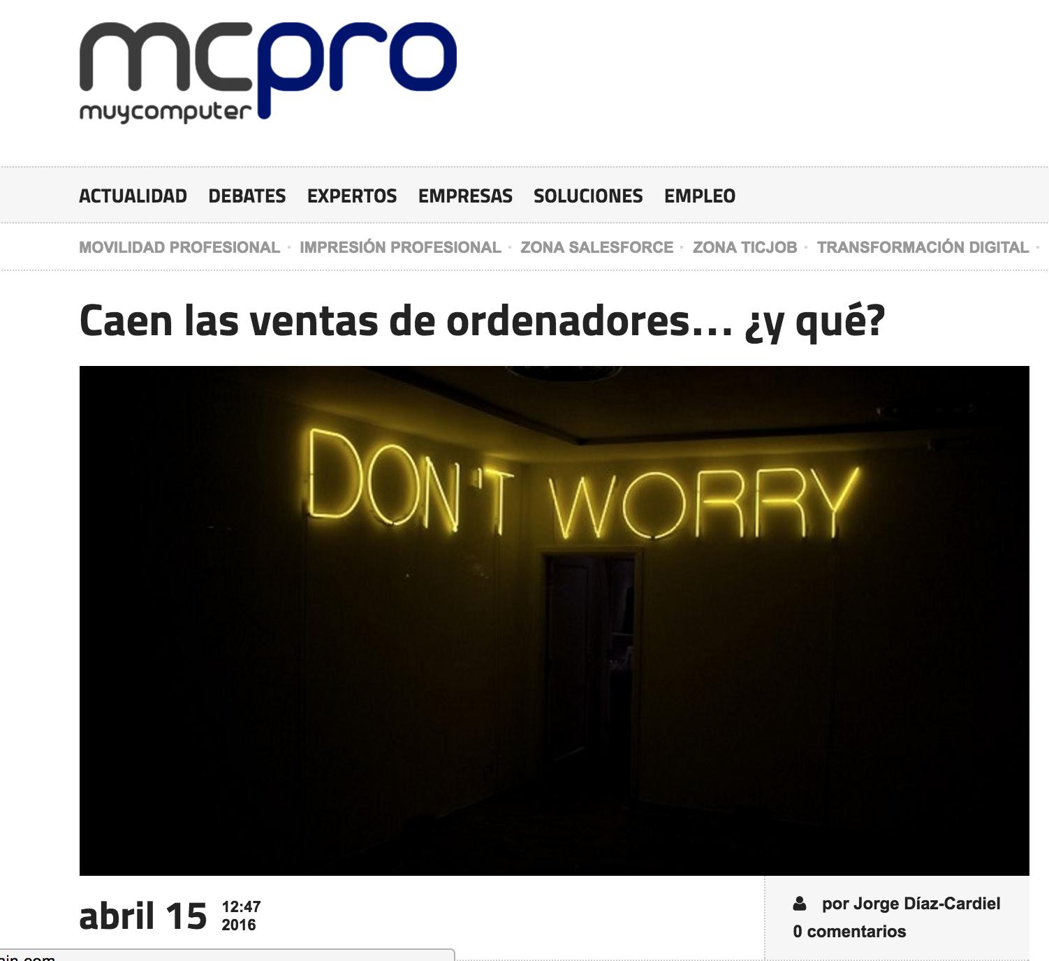 Artículo de Jorge Díaz-Cardiel en 'Muy Computer Pro'