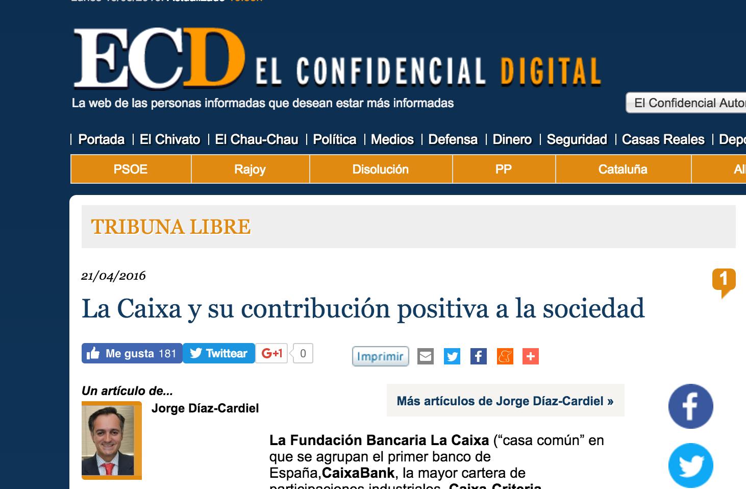 Artículo de Jorge Díaz-Cardiel en 'El Confidencial Digital'