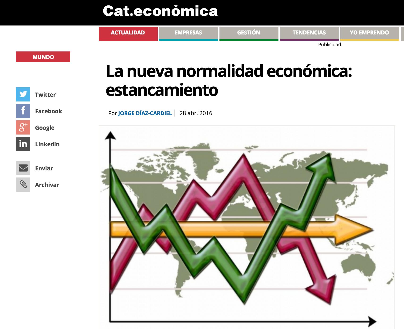 Articulo de Jorge Díaz-Cardiel en 'Cataluña Económica'