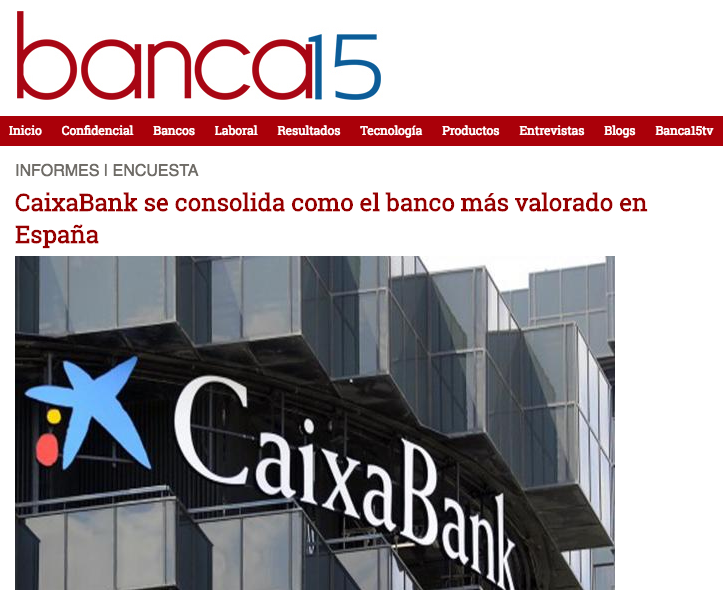 Article about the results of Advice´s Business Success Study in 'Banca15.com'