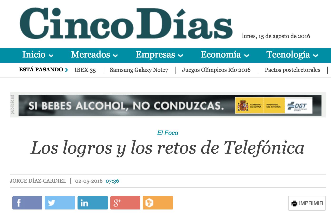Artículo de Jorge Díaz-Cardiel en 'Cinco Dias'