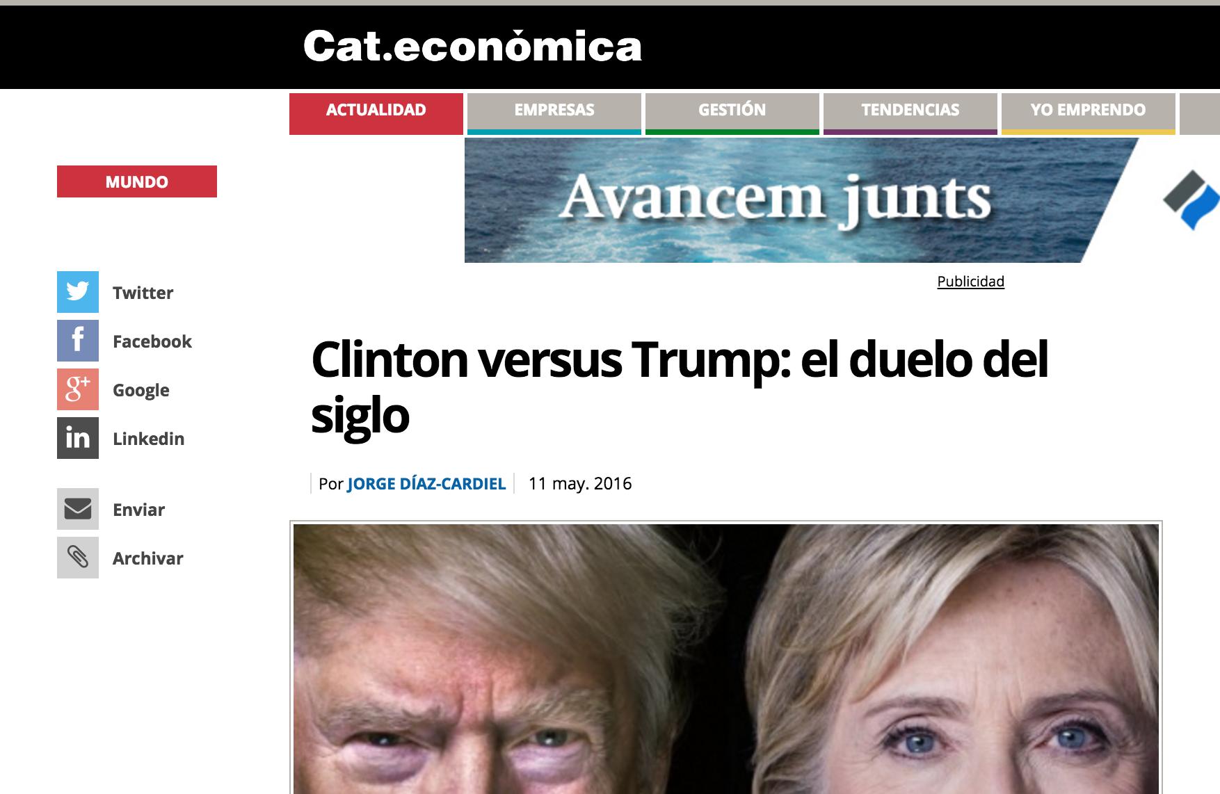 Artículo de Jorge Díaz-Cardiel en 'Cataluña Económica'