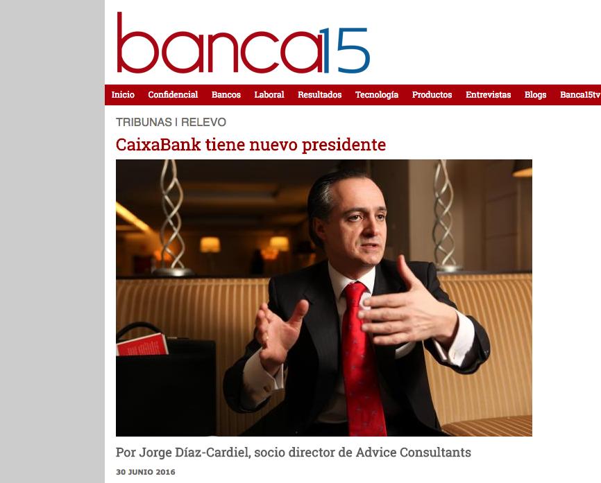Artículo de Jorge Díaz-Cardiel en 'Banca15.com'