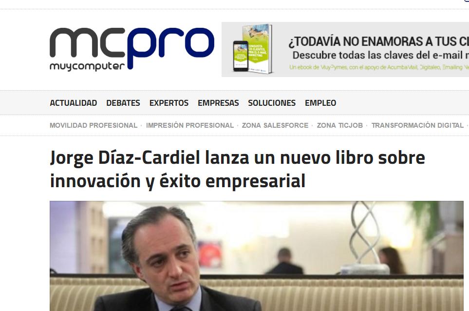 Noticia sobre el nuevo libro de Jorge Díaz-Cardiel en 'Muy Computer Pro'