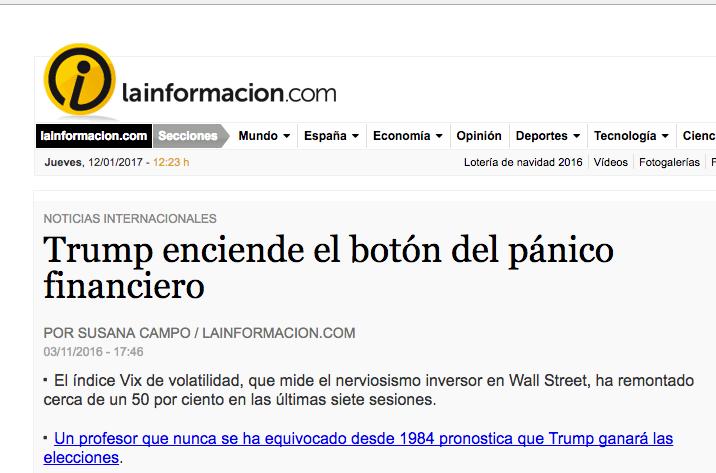 Entrevista a Jorge Díaz-Cardiel sobre las elecciones americanas en 'La Información'