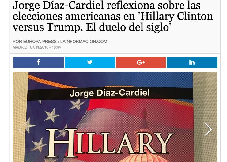 Noticia sobre el nuevo libro de Jorge Díaz-Cardiel en 'La Información'