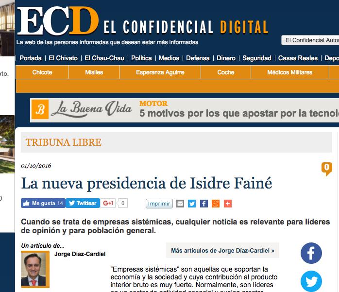Articulo de Jorge Díaz-Cardiel en 'El Confidencial Digital'