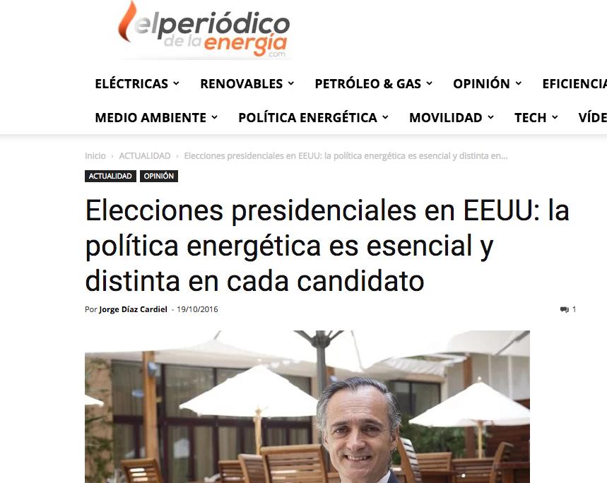 Artículo de Jorge Díaz-Cardiel en 'El periódico de la energía'
