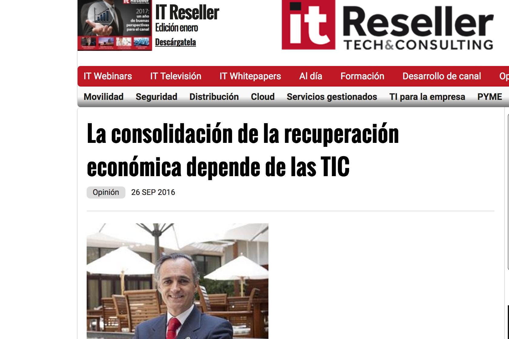 Artículo de Jorge Díaz-Cardiel en 'IT Reseller'