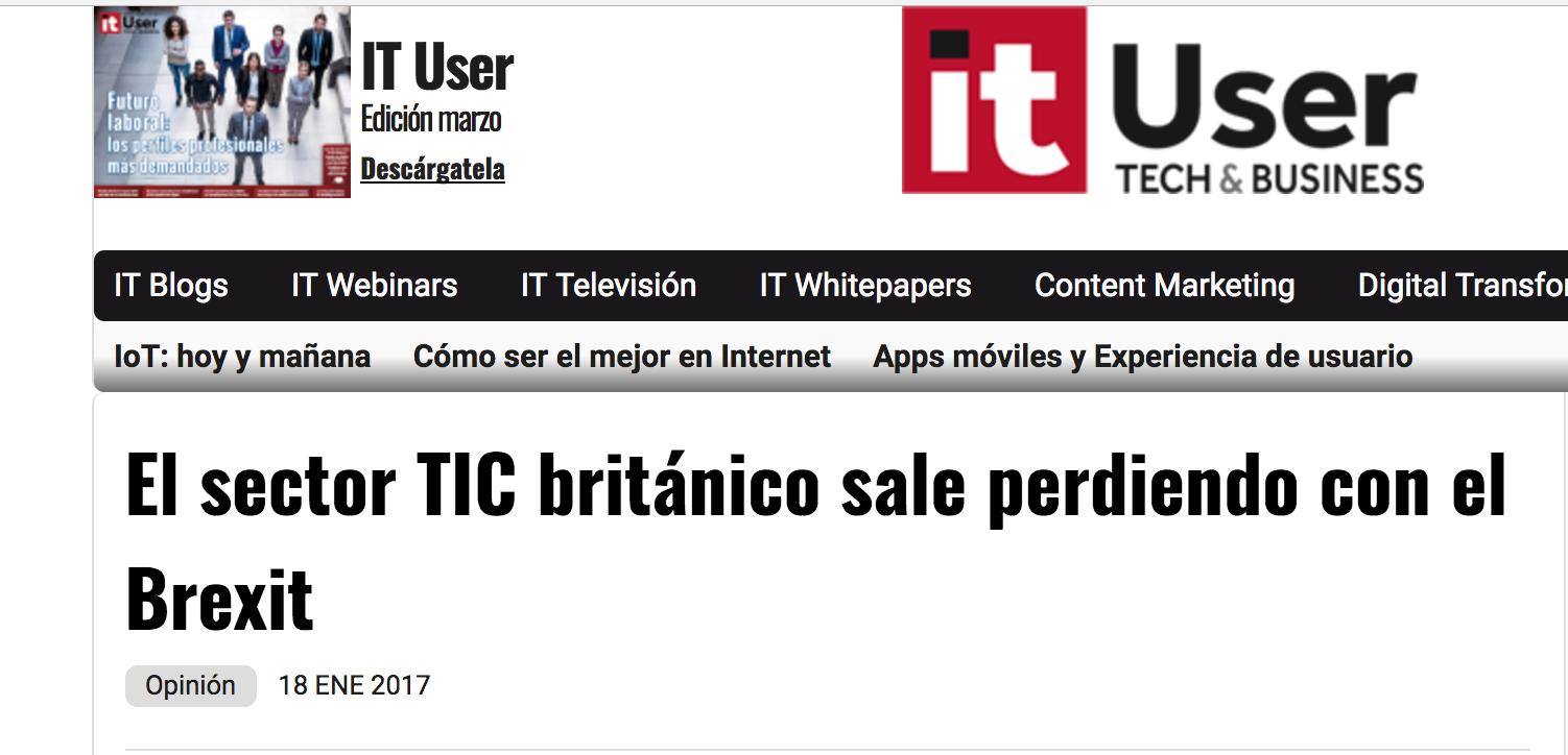 Artículo de Jorge Díaz-Cardiel en 'IT User'