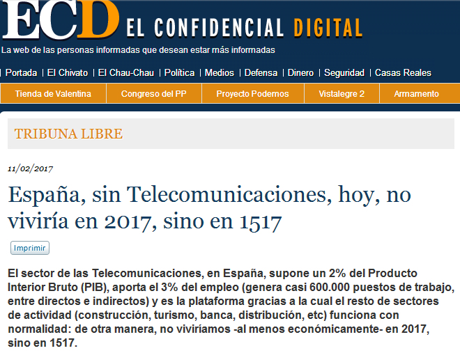 Article by Jorge Díaz-Cardiel in 'El Confidencial Digital'