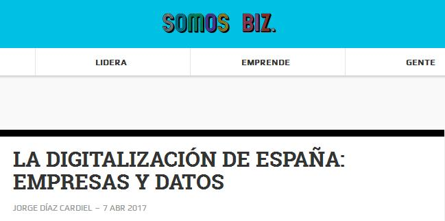 Article by Jorge Díaz-Cardiel in 'Somos Biz'