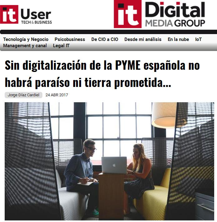 Article by Jorge Díaz-Cardiel in 'IT User'
