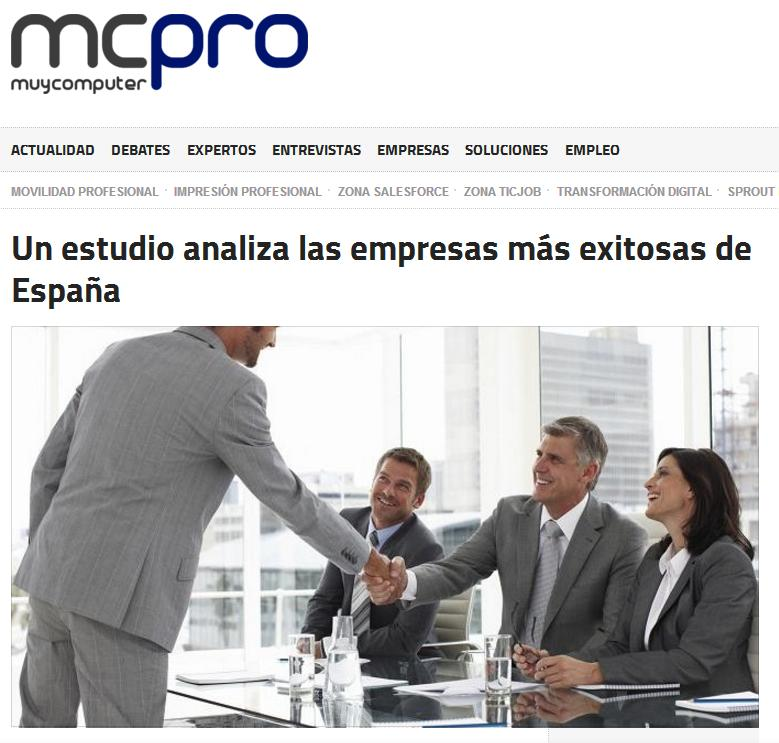 Noticia sobre el estudio Advice en 'MuyComputer Pro'