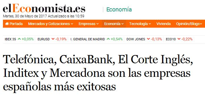Press release about de results of the Advice's Business Success Study 'elEconomista.es'