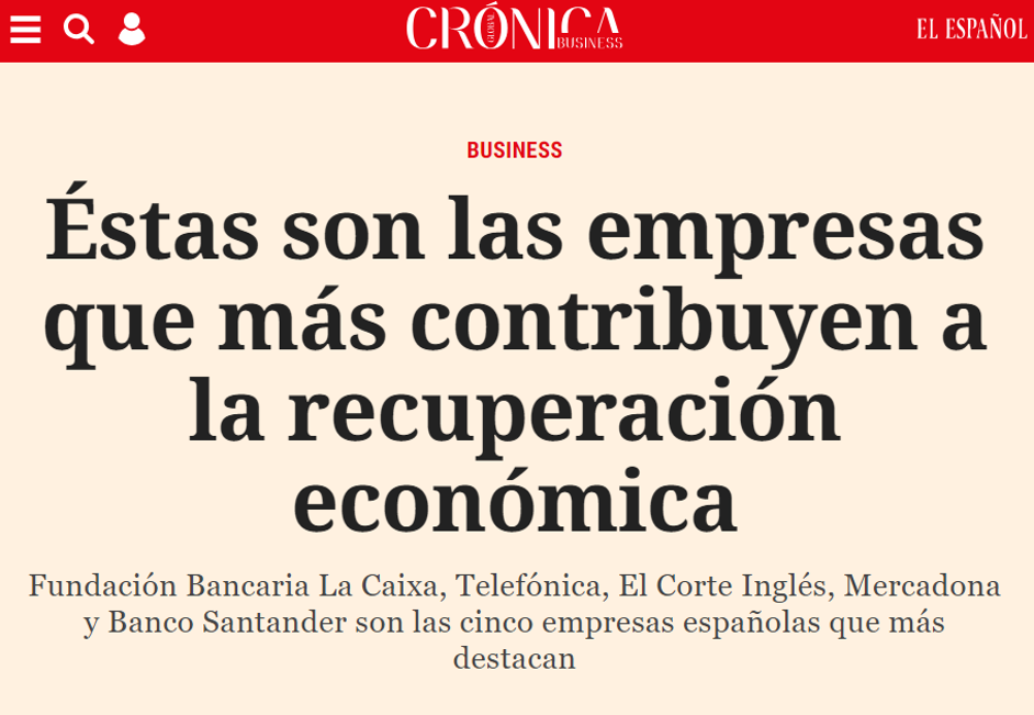 Press release about results of the Advice's Business Success Study in 'Crónica Global – El Español'