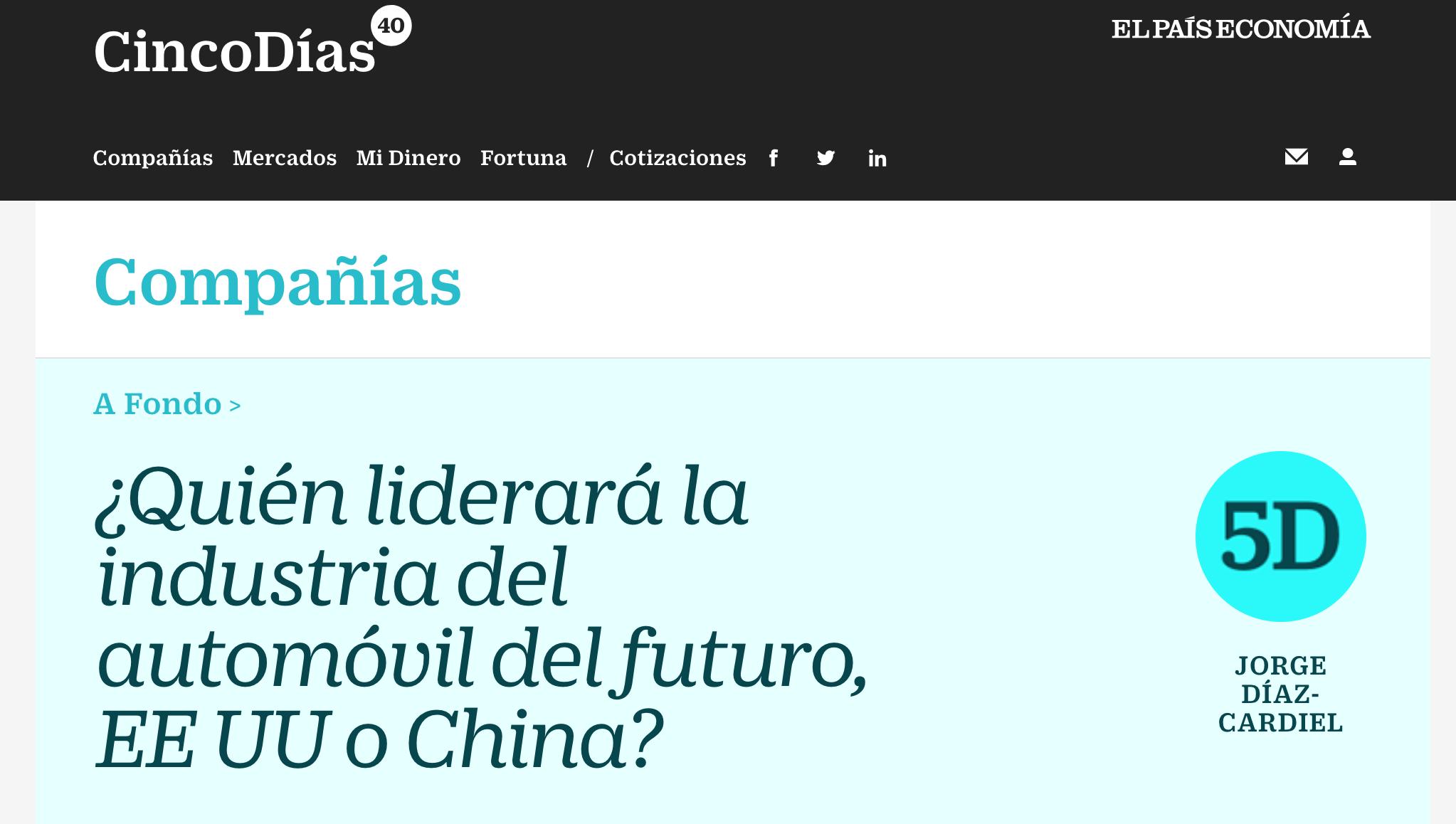 Artículo de Jorge Díaz-Cardiel en Cinco Días – El País Economía