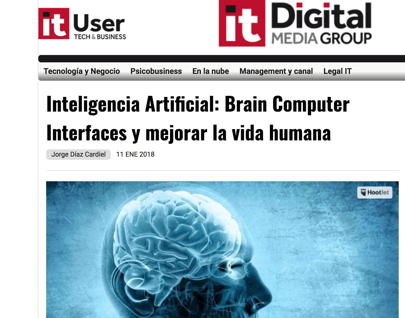 Artículo de Jorge Díaz-Cardiel en IT User