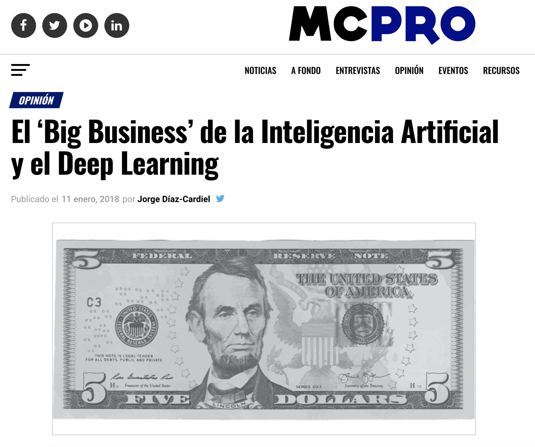 Artículo de Jorge Díaz-Cardiel en Muy Computer Pro