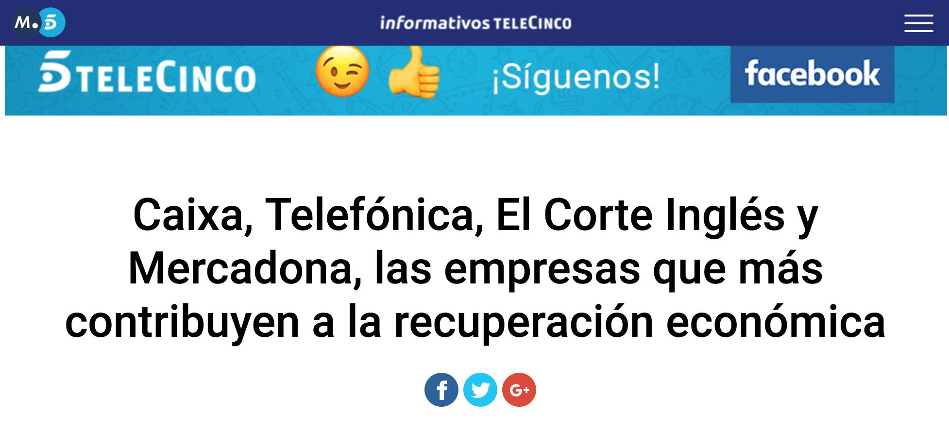 Artículo de Jorge Díaz-Cardiel en Informativos Telecinco