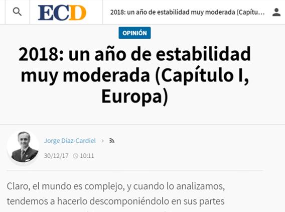 Article by Jorge Díaz-Cardiel in 'El Confidencial Digital'