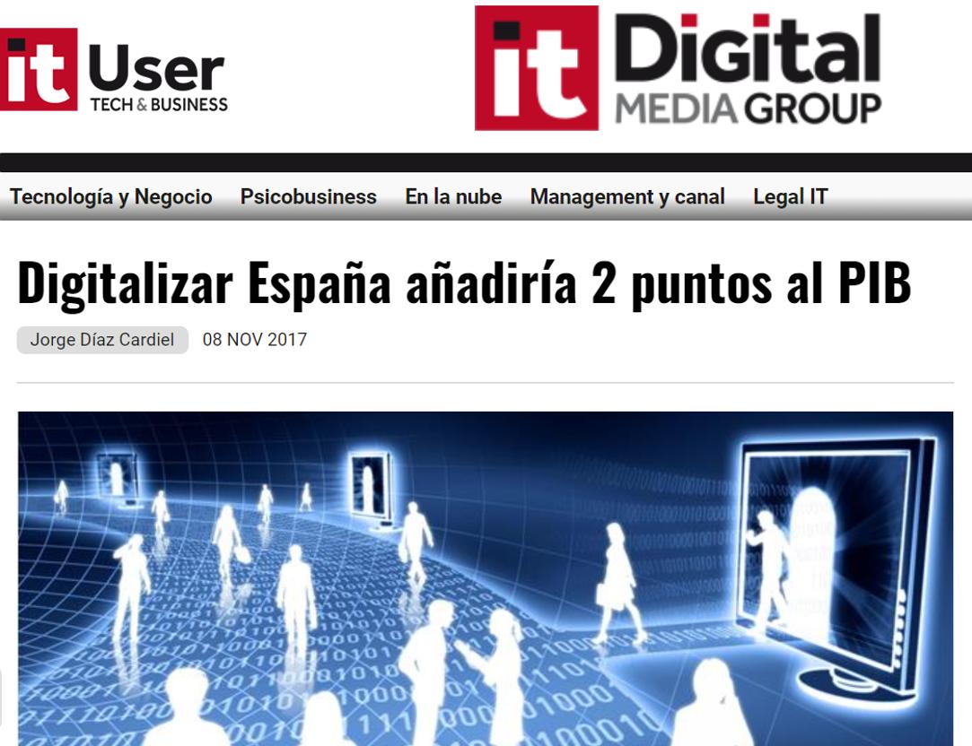 Article by Jorge Díaz-Cardiel in 'IT User'