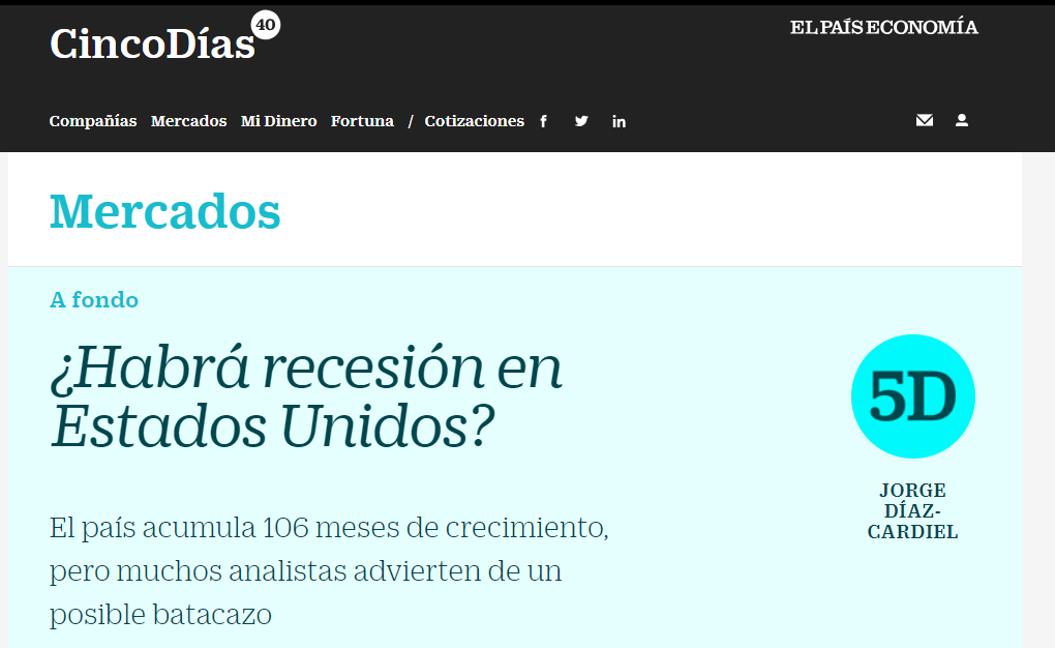 Artículo de Jorge Díaz-Cardiel en 'Cinco Días – El País Economía'