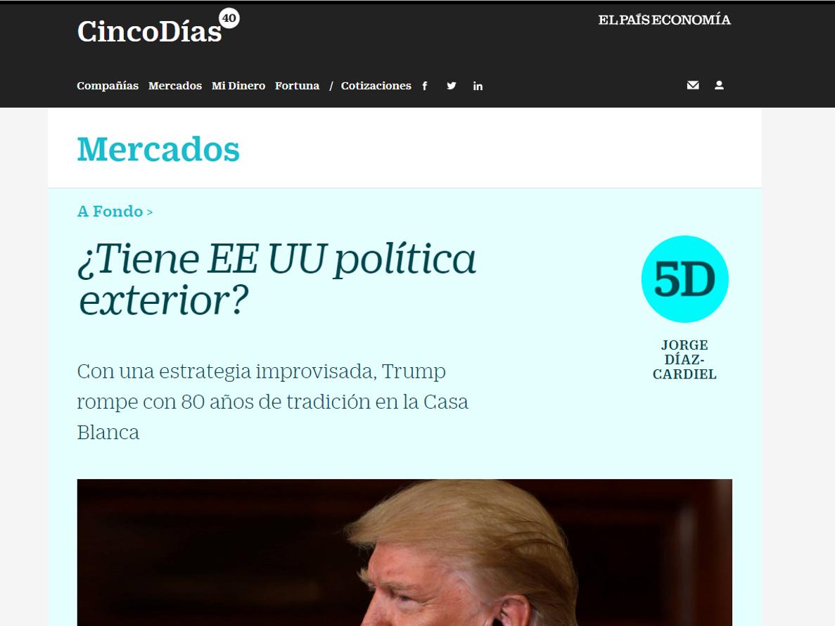 Article by Jorge Díaz-Cardiel in 'Cinco Días'