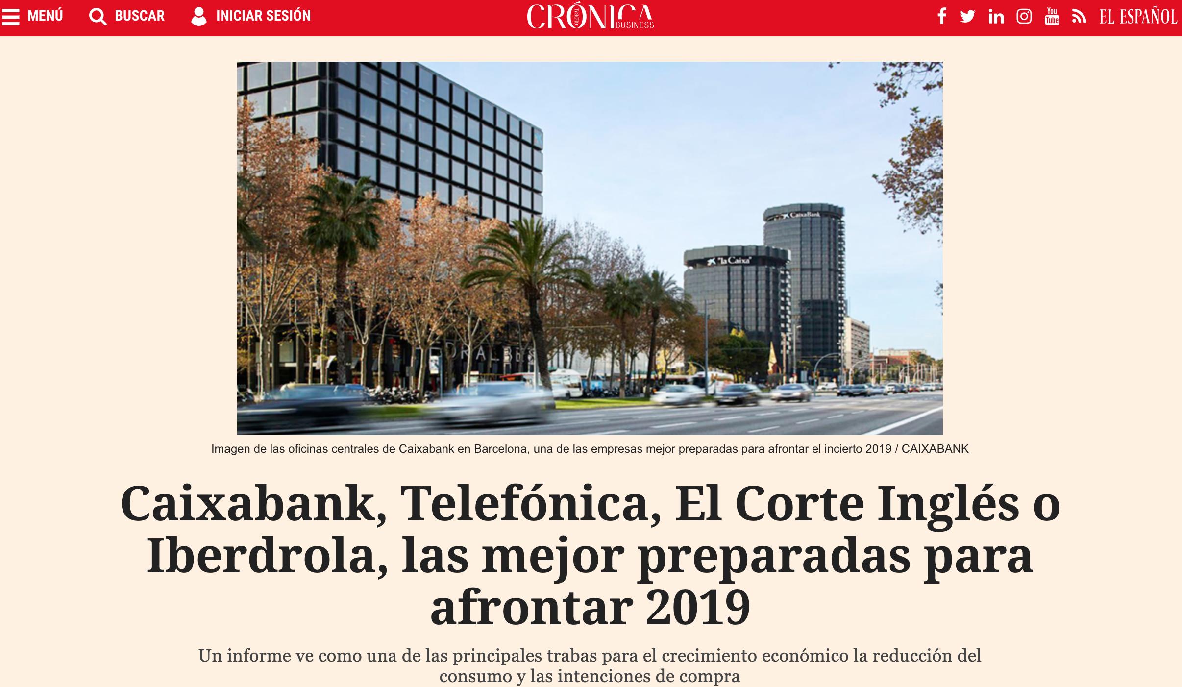 Noticia sobre el estudio de Advice en El Español