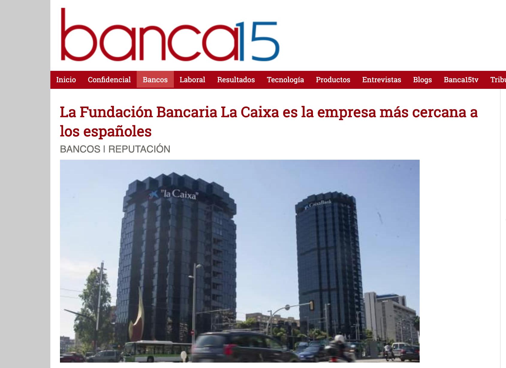 Noticia sobre el estudio Advice en Banca15
