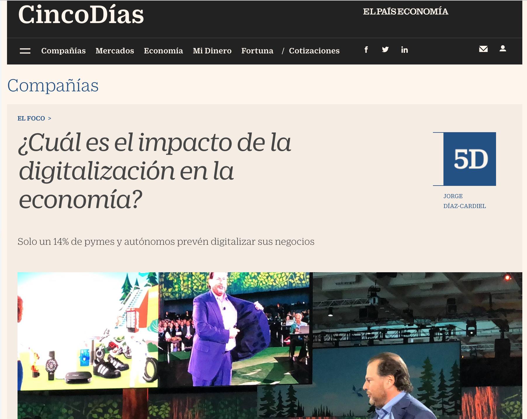 Artículo de Jorge Díaz-Cardiel en Cinco Días