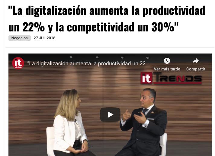 Article by Jorge Díaz-Cardiel in IT Trends