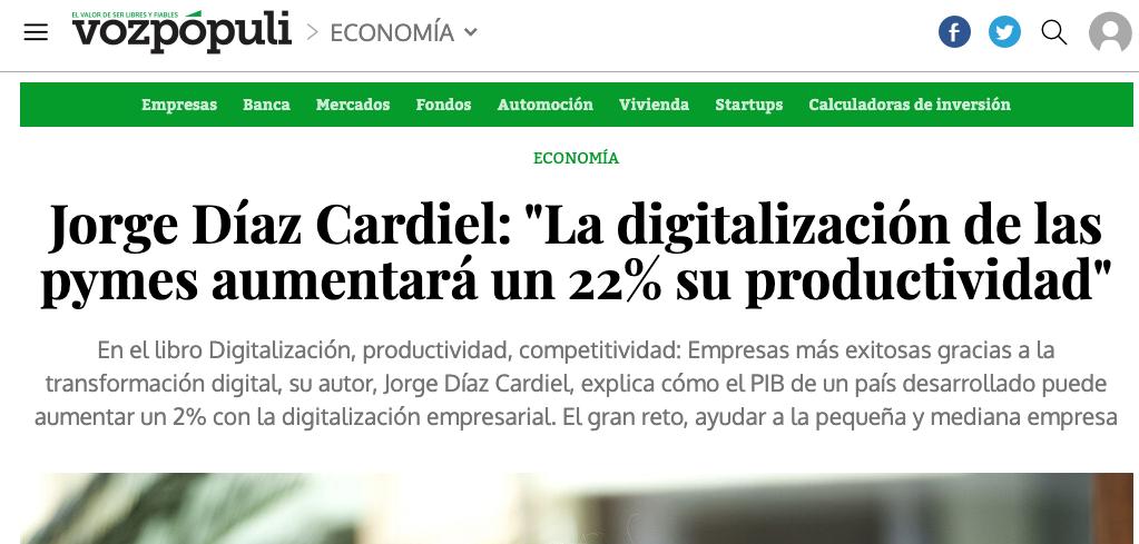 Artículo de Jorge Díaz-Cardiel en Voz Populi