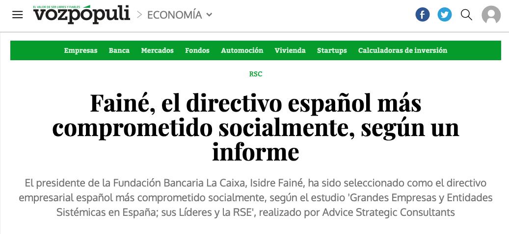 Article by Jorge Díaz-Cardiel in Voz Populi