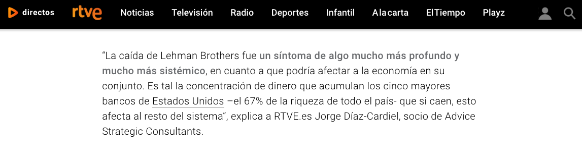 Artículo de Jorge Díaz-Cardiel en RTVE.es