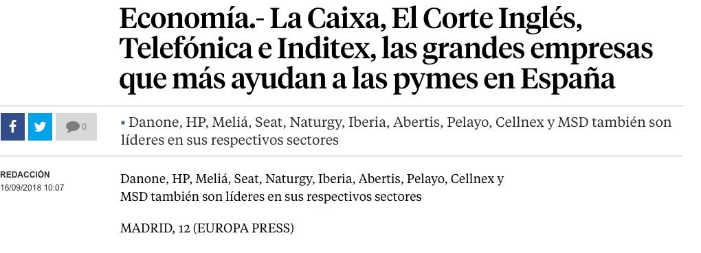 Article by Jorge Díaz-Cardiel in La Vanguardia