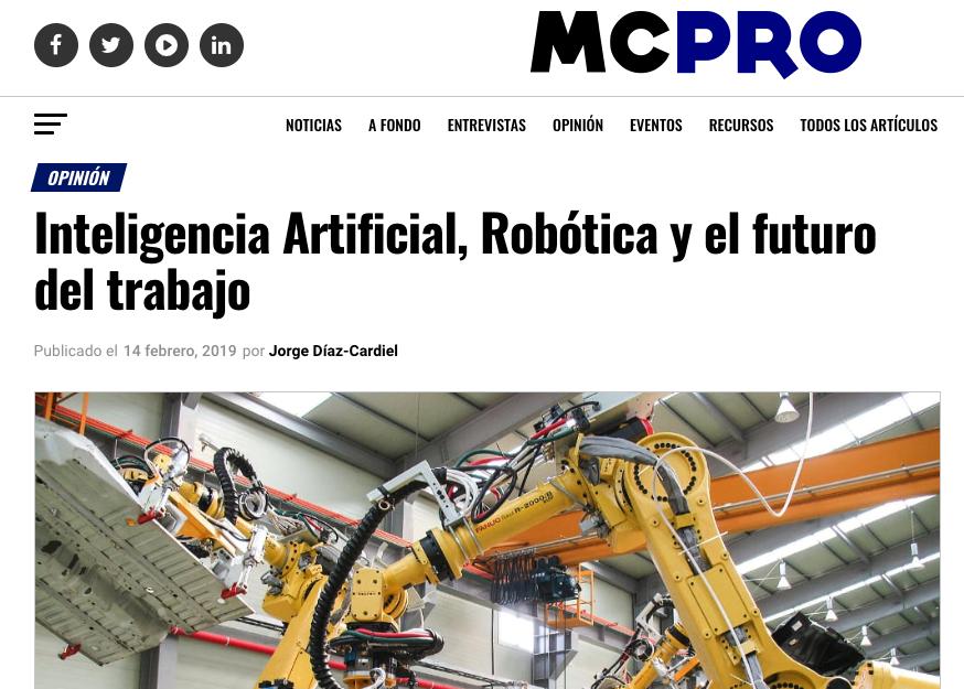 Artículo de Jorge Díaz-Cardiel en MCPro