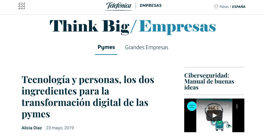 Artículo de Jorge Díaz-Cardiel en Think Big Telefónica Empresas