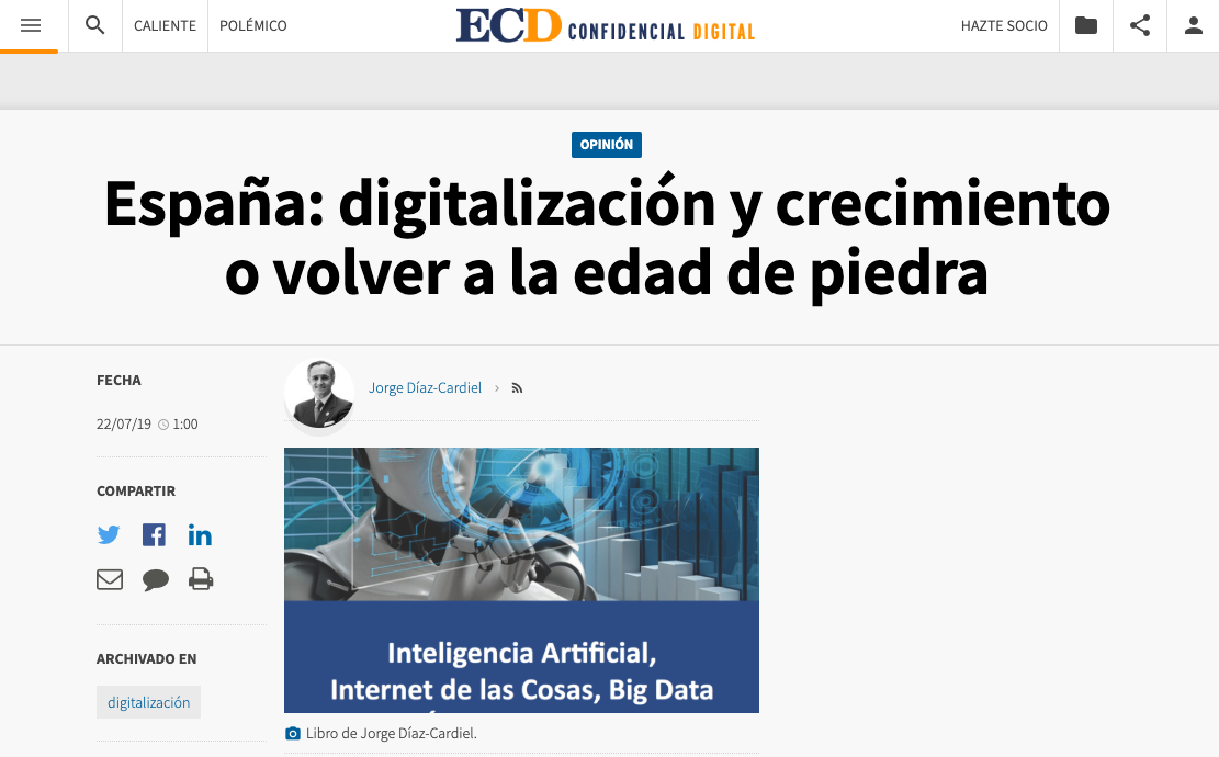 Artículo de Jorge Díaz-Cardiel en El Confidencial Digital