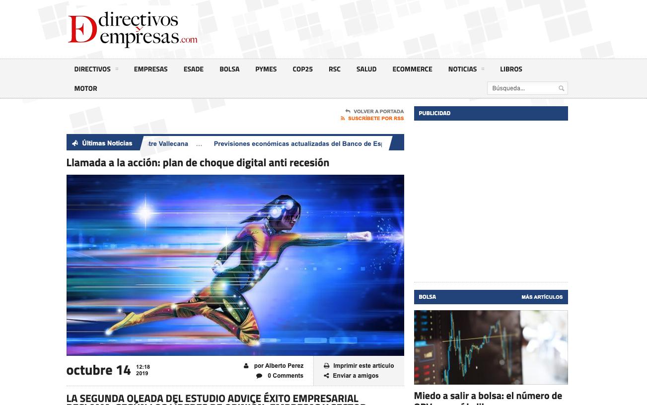 Article by Jorge Díaz-Cardiel in Directivos y empresas