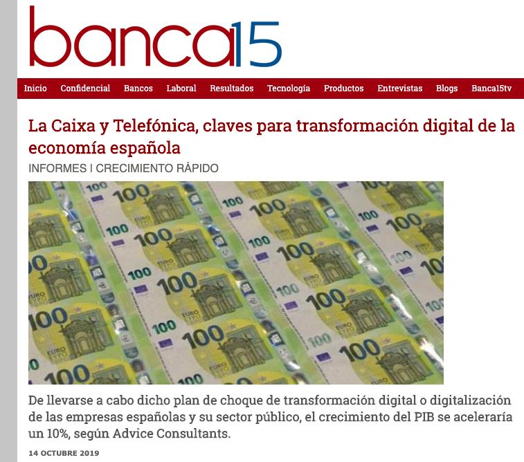Article by Jorge Díaz-Cardiel in Banca15.com