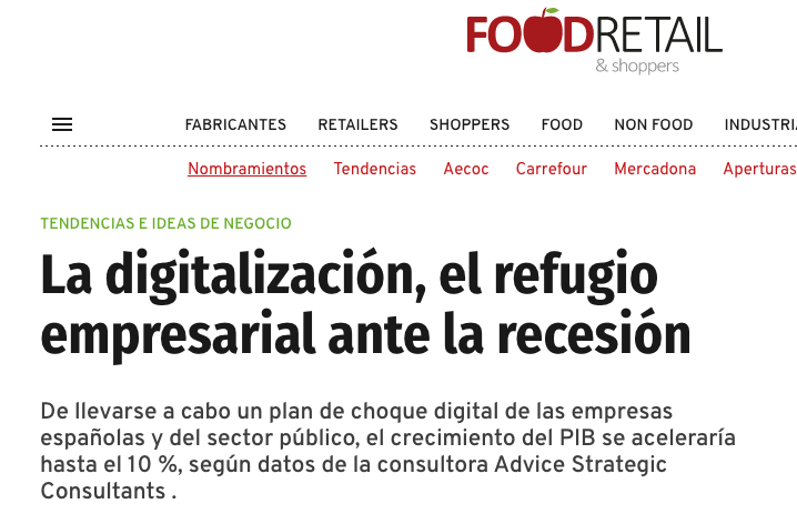 Press Release about Advice´s study in Food Retail