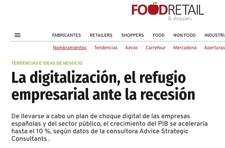 Artículo de Jorge Díaz-Cardiel en Food Retail