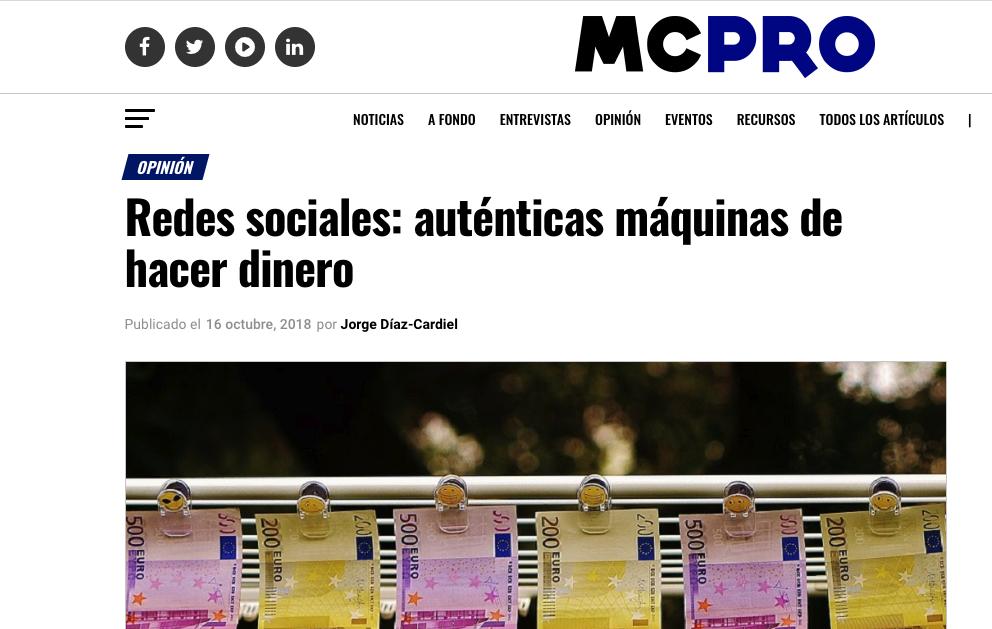 Article by Jorge Díaz-Cardiel in MC Pro